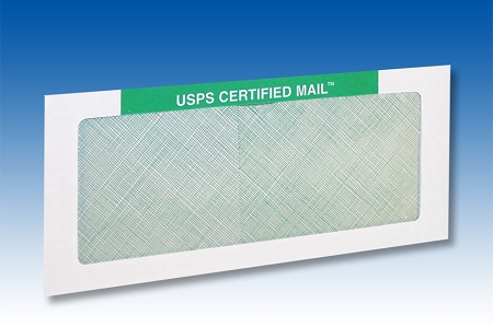 Certified Mail Envelopes letter size #10