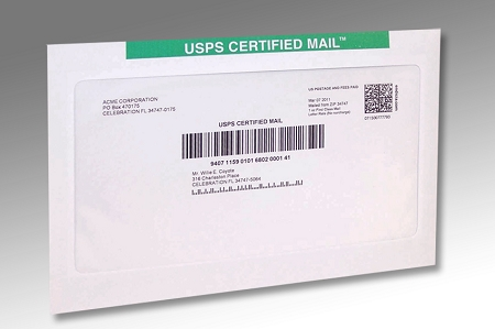 6x9 Certified Mail Envelope