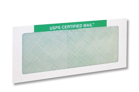 500 Pack - #10 Certified Mail Envelope w/out Processing